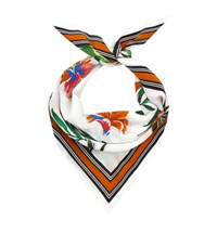 Claudie Pierlot Silk Birds Of Paradise Print Scarf Nude