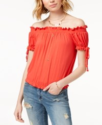 American Rag Juniors' Off The Shoulder Top Tropical Punch