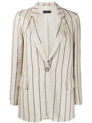 Peserico Striped Tailored Blazer 60