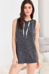 Project Social T X Out From Under Sleeveless Hoodie Sweatshirt Grey