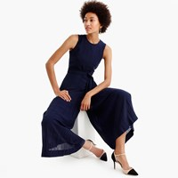 J.Crew Collection Wide Leg Pleated Jumpsuit
