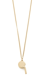 Marc By Marc Jacobs Whistle Pendant Necklace Oro
