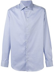Giorgio Armani Long Sleeve Shirt Blue