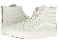 Vans Sk8 Hi Slim Zip Leather Zephyr Blue Blanc De Blanc Skate Shoes White