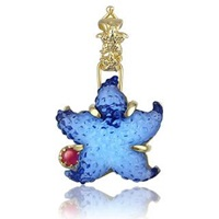 Tagliamonte Marina Collection Blue Starfish Ruby And 18K Gold Pendant