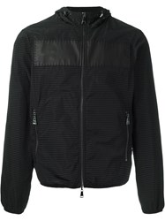 Emporio Armani Zipped Anorak Jacket Black