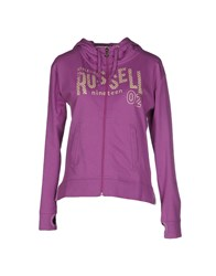 Russell Athletic Topwear Sweatshirts Women Purple