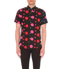 Paul Smith Tailored Fit Polka Dot Print Cotton Shirt