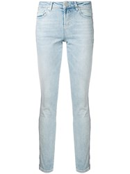 Zoe Karssen Light Wash Skinny Jeans Blue