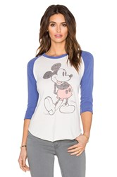 Junk Food Mickey Mouse Tee Blue