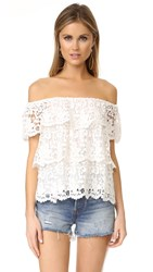 Miguelina Angelica Off The Shoulder Top White