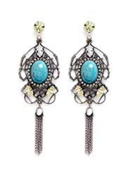 Anton Heunis Swarovski Crystal Vintage Stone Chandelier Earrings Multi Colour