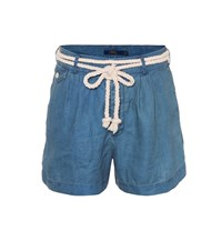 Polo Ralph Lauren Chambray Linen Shorts Blue