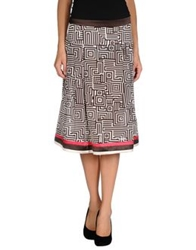 Caractere 3 4 Length Skirts Cocoa
