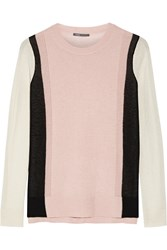 Vince Color Block Cashmere Sweater Pink