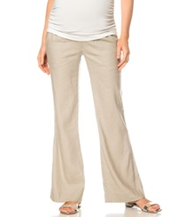 A Pea In The Pod Wide Leg Maternity Pants Sand