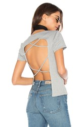 Nytt Open Back Tee Gray