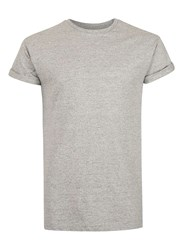 Topman Grey And Black Slub Muscle Fit Roller T Shirt