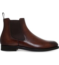 Santoni Colin Leather Chelsea Boots Brown