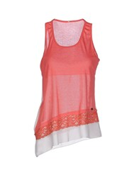 Fly Girl Topwear Vests Women Coral