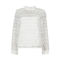 Paisie Lace Top With Underlay In White
