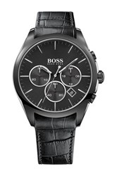 Hugo Boss Men's Onyx Chronograph Dress Watch Gray
