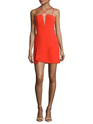 Bcbgmaxazria Solid Strappy Dress Bright Red