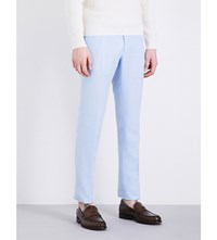 Slowear Slim Fit Tapered Linen Blend Chinos Lt Blue