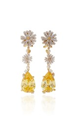 Anabela Chan M'o Exclusive Canary Daisy Drop Earrings Yellow