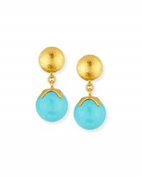 Gurhan Spell Hue Turquoise Ball Drop Earrings