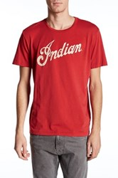 Lucky Brand Indian Logo Alone Short Sleeve Graphic Tee Red