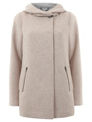 Mint Velvet Zip Collar Coat Blush