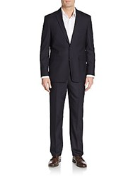 Vince Camuto Slim Fit Hairline Striped Suit Navy