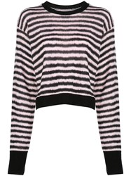 Rta Striped Jumper Black