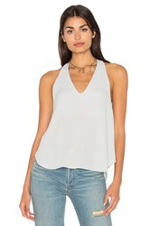 Three Eighty Two Owen V Racerback Top Light Gray