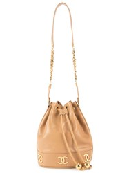 Chanel Vintage Drawstring Shoulder Bag Brown