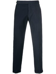 Thom Browne Fun Mix Pinstripe Skinny Fit Trouser Blue