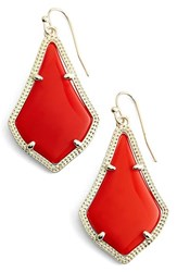 Kendra Scott Women's 'Alex' Drop Earrings Bright Red Opaque Glass Gold
