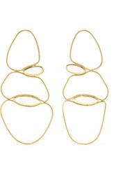 Fernando Jorge Fluid 18 Karat Gold Quartz Earrings