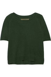 Enza Costa Cashmere Sweater Green