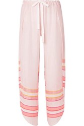 Lemlem Eskedar Fly Away Striped Cotton Blend Gauze Pants Pink