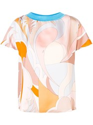 Emilio Pucci Abstract Printed T Shirt Blue