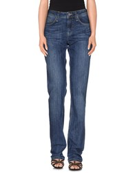 Burberry Brit Denim Denim Trousers Women Blue