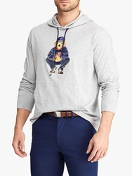 Ralph Lauren Polo Golf By X Justin Thomas Jersey Hooded Top Light Grey Heather