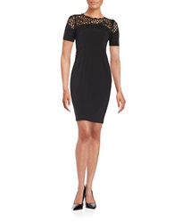 T Tahari Etta Sheath Dress Black