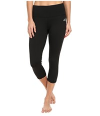 Adidas Performer Mid Rise 3 4 Tights Black Matte Silver Women's Workout