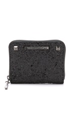 Rebecca Minkoff Glitter Mini Ava Zip Wallet Black