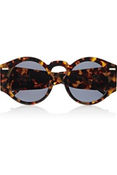 Opening Ceremony Round Frame Acetate Sunglasses Animal Print