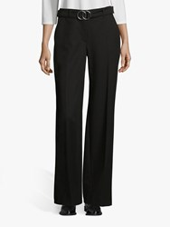 Betty Barclay Crepe Belted Trousers Black