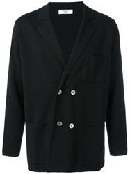 Fashion Clinic Double Breasted Cardigan Black